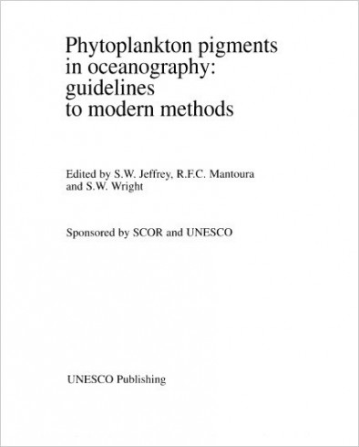 Phytoplankton pigments in oceanography: guidelines to modern methods